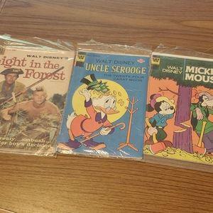 1950's & 1970's vintage Disney Comics Bundle